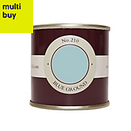 Farrow & Ball Estate Blue ground No.210 Emulsion paint 0.1L Tester pot