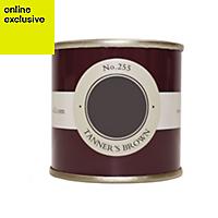 Farrow & Ball Tanners Brown no.255 Estate emulsion paint 0.1L Tester pot