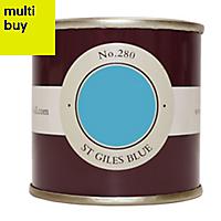 Farrow & Ball Estate St Giles blue No.280 Emulsion paint 0.1L Tester pot