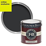 Farrow & Ball Pitch Black no.256 Matt Estate emulsion paint 2.5L