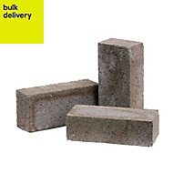 Grey Concrete common brick (H)65mm (W)103mm (L)215mm