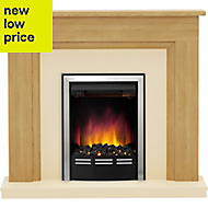 Be Modern Dallington Black Chrome effect Electric Fire Suite