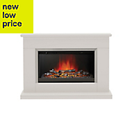 Be Modern Handbridge Silver effect Electric Fire Suite