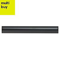 TG bevel Black Ceramic Border tile, (L)200mm (W)25mm
