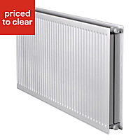 Barlo Round top Type 22 double Panel radiator White, (H)500mm (W)1400mm