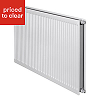 Barlo Round top Type 21 double plus Panel radiator White, (H)600mm (W)800mm
