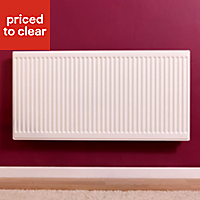 Barlo Round top Type 21 double plus Panel radiator White, (H)600mm (W)1000mm