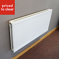 Barlo Round top Type 21 double plus Panel radiator White, (H)600mm (W)1400mm