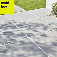 Piasentina Grey Matt Stone effect Porcelain Outdoor Floor tile, Pack of 2, (L)597mm (W)597mm