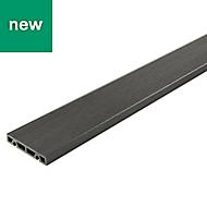 Areto Dark grey Composite Deck board (L)2.05m (W)120mm (T)21mm