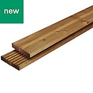 Lemhi Natural Pine Deck board (L)4.8m (W)144mm (T)27mm