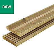 Lemhi Green Pine Deck board (L)3.6m (W)144mm (T)27mm