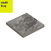 Oscano Dark grey Stone effect Ceramic Wall & floor tile, (L)97mm (W)97mm, Sample
