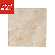 Haver Sand Travertine effect Ceramic Wall & floor tile, (L)97mm (W)97mm, Sample
