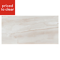 Fossilised wood Sand Matt Wood effect Ceramic Wall & floor tile, Pack of 6, (L)598mm (W)298mm