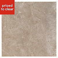 Burlington Earth Stone effect Ceramic Wall & floor tile, Pack of 4, (L)498mm (W)498mm