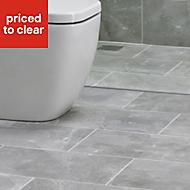 Arlington Silver Matt Marble effect Ceramic Wall & floor tile, Pack of 6, (L)498mm (W)298mm