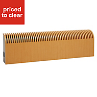 Jaga Knockonwood Horizontal Wooden cased radiator Beech veneer (H)300 mm (W)1400 mm