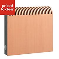 Jaga Knockonwood Horizontal Wooden cased radiator Beech veneer (H)550 mm (W)600 mm