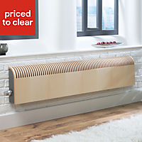 Jaga Knockonwood Horizontal Wooden cased radiator Maple veneer (H)300 mm (W)1400 mm