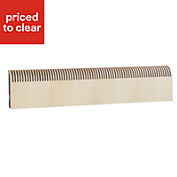 Jaga Knockonwood Horizontal Wooden cased radiator Maple veneer (H)550 mm (W)1400 mm