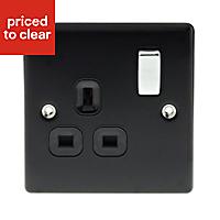 Nexus 13A Black Single Switched Socket
