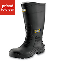 JCB Hydromaster Black Safety wellingtons, Size 9