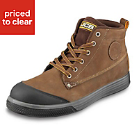 JCB Hiker Tan Safety trainers, Size 10