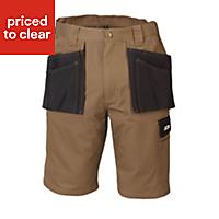 "JCB Keele Black & sand Shorts W40"""