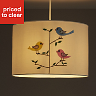 Colours Rosalba White Embroidered bird Light shade (D)300mm