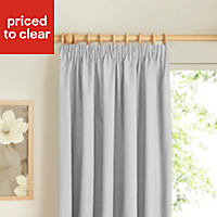 Prestige Ecru Plain Lined Pencil pleat Curtains (W)228cm (L)228cm, Pair