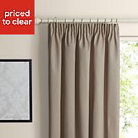 Prestige Seine Plain Lined Pencil pleat Curtains (W)167cm (L)183cm, Pair