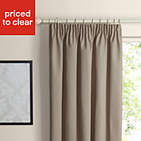Prestige Seine Plain Lined Pencil pleat Curtains (W)167cm (L)228cm, Pair