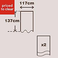 Prestige Blueberry Plain Lined Pencil pleat Curtains (W)117cm (L)137cm, Pair