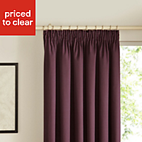 Prestige Blueberry Plain Lined Pencil pleat Curtains (W)167cm (L)183cm, Pair