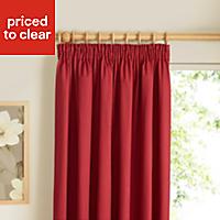 Prestige Strawberry Plain Lined Pencil pleat Curtains (W)167cm (L)228cm, Pair