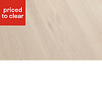 Colours Arioso Grey Oak effect Real wood top layer flooring, 1.2m² Pack