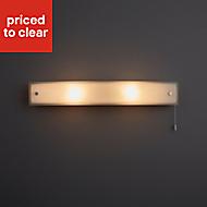Freem Chrome effect Bathroom Wall light