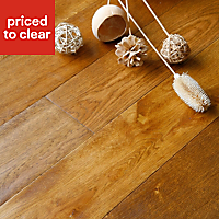 Colours Rondo Wheat Oak Solid wood flooring, 1.18m² Pack