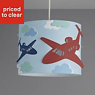 Colours Revolutio Blue Airplane Light shade (D)250mm