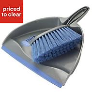 Blue & silver Dustpan & brush set
