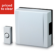 Blyss White Wired Battery-powered Door chime kit 720B