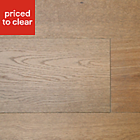 Colours Rondo Natural Chestnut effect Real wood top layer flooring, Sample