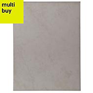 Helena Light beige Matt Ceramic Wall tile, Pack of 12, (L)330mm (W)250mm