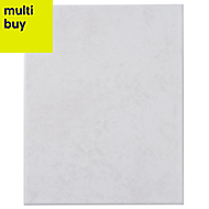 Helena Light grey Matt Ceramic Wall tile, Pack of 12, (L)330mm (W)250mm