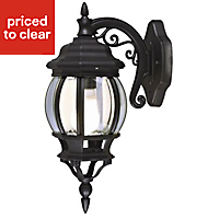 Blooma Canterbury Black Mains-powered Outdoor Wall light