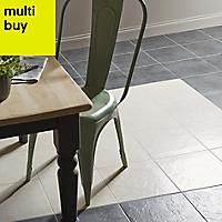 Cirque Beige Matt Stone effect Ceramic Floor tile, Pack of 9, (L)333mm (W)333mm