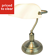 Colours Cambru Matt Gold effect CFL Table lamp