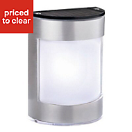 Blooma Alhena Nickel effect Solar-powered LED Outdoor Wall light