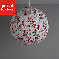 Colours Elodia Pink Floral Light shade (D)400mm